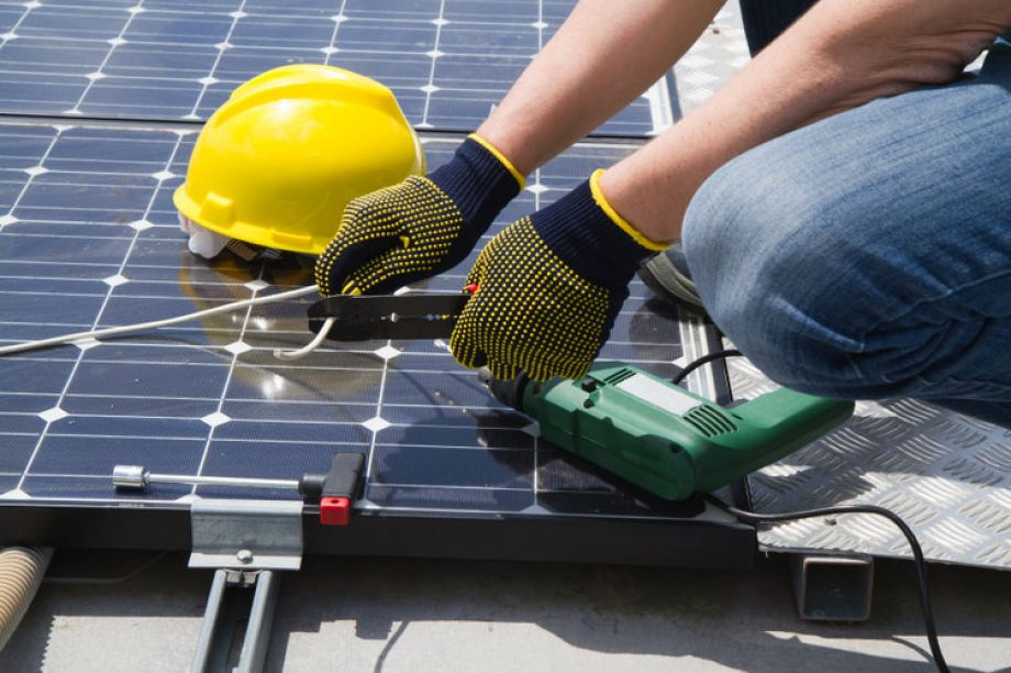 solar panel installation included