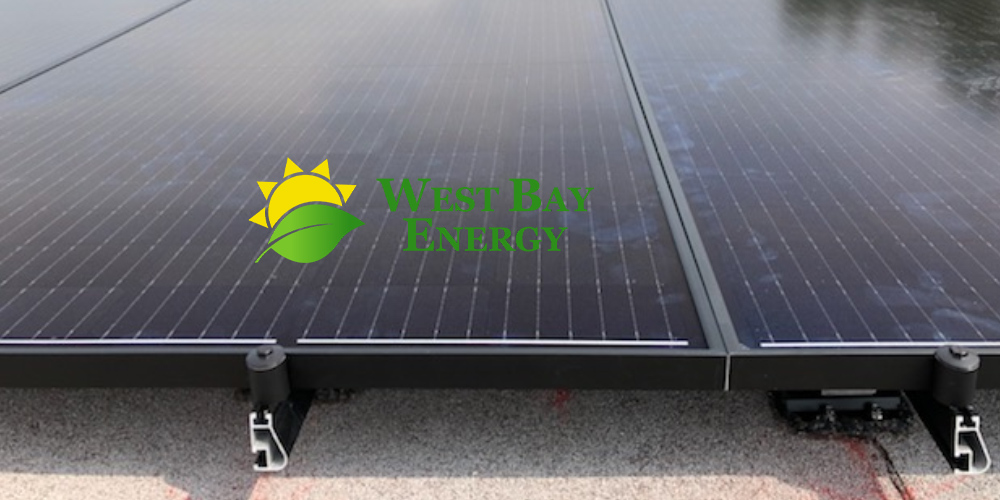 Solar Panels Mounted to a Roof